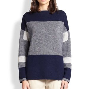 Vince Womens Intarsia Sweater Wool/Cashmere $375